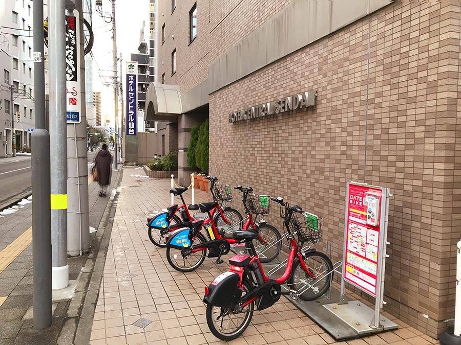 伊達バイク-ホテルセントラル仙台