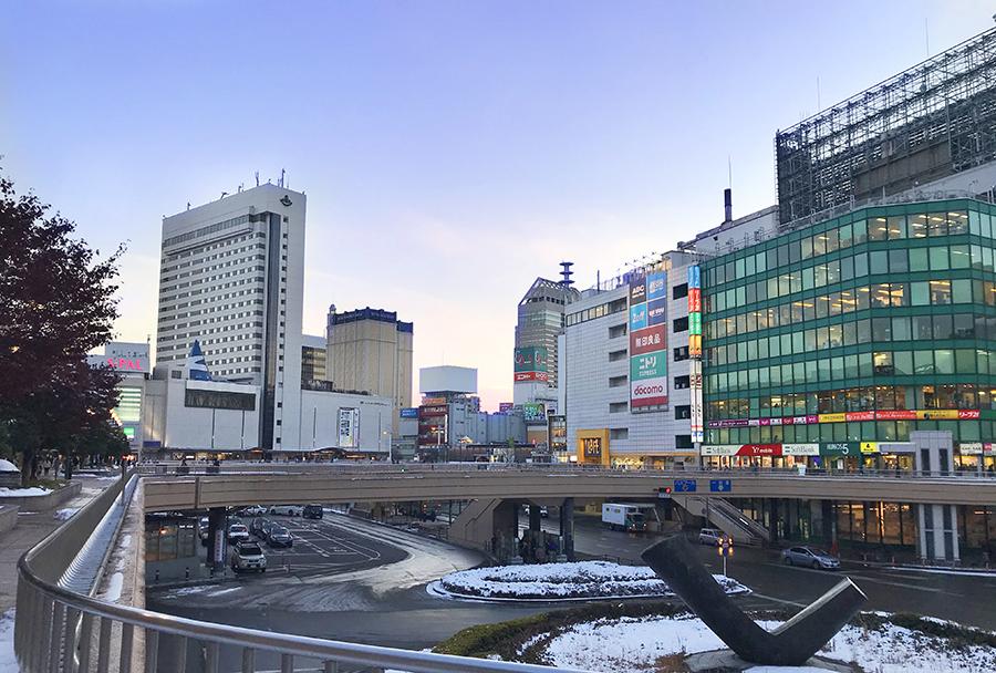 伊達バイク-仙台駅前全景